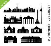 berlin city  germany landmark... | Shutterstock .eps vector #739638397