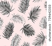 jungle rainforest royal palm... | Shutterstock .eps vector #739642333