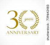 30 years old luxurious logotype.... | Shutterstock .eps vector #739642483