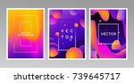 vector design template and... | Shutterstock .eps vector #739645717