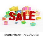 3d render christmas sale... | Shutterstock . vector #739647013