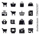 16 vector icon set   cart ...   Shutterstock .eps vector #739651507