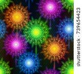 firework seamless background of ...   Shutterstock .eps vector #739654423