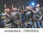 young people at the new year... | Shutterstock . vector #739655323