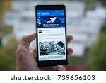 san francisco  october 10  2017 ... | Shutterstock . vector #739656103