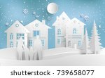 scenery in the winter with...   Shutterstock .eps vector #739658077