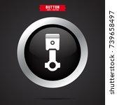 piston icon. car detail | Shutterstock .eps vector #739658497