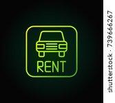 car rental green icon. vector... | Shutterstock .eps vector #739666267