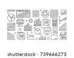 business data analytics vector... | Shutterstock .eps vector #739666273