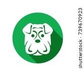dog icon in trendy flat style...