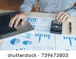 business man or accountant... | Shutterstock . vector #739673803