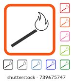 match fire icon. flat gray...