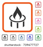 burner nozzle flame icon. flat... | Shutterstock .eps vector #739677727