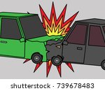 car accident humping  zoom... | Shutterstock .eps vector #739678483