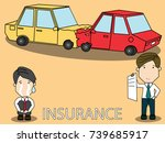 car accident bumping and... | Shutterstock .eps vector #739685917