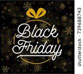 abstract vector black friday... | Shutterstock .eps vector #739688743