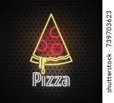 pizza  pizza delivery service... | Shutterstock .eps vector #739703623