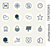 eco friendly icons set.... | Shutterstock .eps vector #739705393