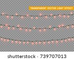 christmas lights isolated... | Shutterstock .eps vector #739707013