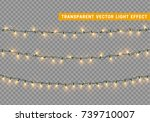 christmas lights isolated... | Shutterstock .eps vector #739710007