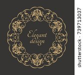 circular arabic pattern. round... | Shutterstock .eps vector #739713037
