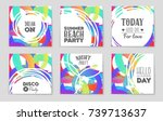 abstract vector layout... | Shutterstock .eps vector #739713637