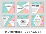 abstract vector layout... | Shutterstock .eps vector #739713787