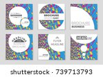 abstract vector layout... | Shutterstock .eps vector #739713793