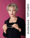beautiful adult business woman... | Shutterstock . vector #739714843