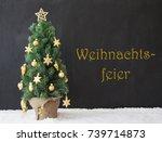 tree  weihnachtsfeier means... | Shutterstock . vector #739714873