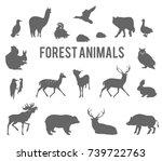 forest animals vector... | Shutterstock .eps vector #739722763