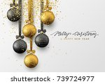 christmas greeting card  design ... | Shutterstock .eps vector #739724977