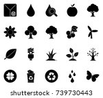 ecology icons | Shutterstock .eps vector #739730443