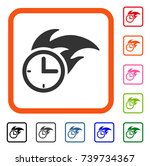 deadline fired clock icon. flat ... | Shutterstock .eps vector #739734367