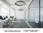 white open space office... | Shutterstock . vector #739738387