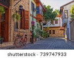 streets of old town kaleici  ... | Shutterstock . vector #739747933