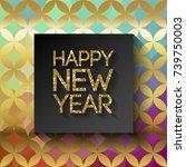 happy new year 2018 in...   Shutterstock .eps vector #739750003