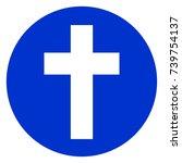 illustration of christian cross ... | Shutterstock .eps vector #739754137