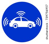 illustration of self driving... | Shutterstock .eps vector #739756957