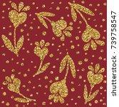 a brilliant gold glitter in the ...   Shutterstock .eps vector #739758547