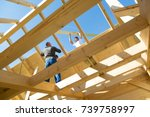 roof builders mounting... | Shutterstock . vector #739758997