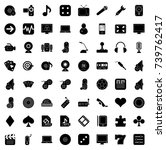 entertainment icons | Shutterstock .eps vector #739762417