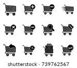 shopping cart icons | Shutterstock .eps vector #739762567
