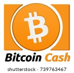 bitcoin cash symbol. realistic... | Shutterstock .eps vector #739763467