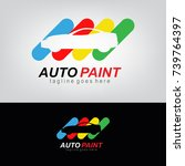 auto paint   automotive icon ... | Shutterstock .eps vector #739764397