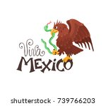 viva mexico illustration.... | Shutterstock .eps vector #739766203