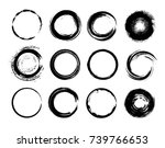 set of grunge circles.grunge... | Shutterstock .eps vector #739766653