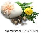 decorated easter eggs  with... | Shutterstock . vector #73977184