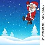 climbing santa claus topic... | Shutterstock .eps vector #739772377