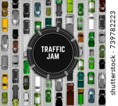 city traffic background with... | Shutterstock .eps vector #739782223
